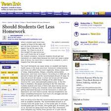 Homework   Pearltrees Should Students Get Less Homework   Teen Opinion Essay on
