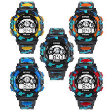 <b>HONHX Men's</b> Student Children's Electronic Watch Multi-function ...