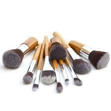 <b>11pcs</b>/<b>set</b> Nylon Fiber Bamboo Handle Makeup Brush Set | Shopee ...
