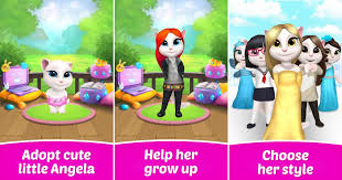 Jom Bela Kucing Come. My Talking Angela. Game Kucing Best Cantik Cute Comel. Game My Talking Angela.