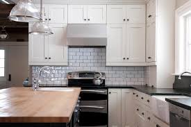 subway kitchen kitchen subway tile kitchen contemporary with white shelves white
