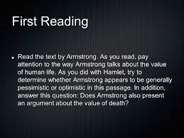 the value of life essay lance armstrong   essaythe value of life expository reading and writing unit ppt