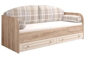 <b>Кровать Комфорт-S</b> М1 Богуслава цвет дуб баррик светлый/крем ...