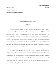 definition essay success template definition essay success