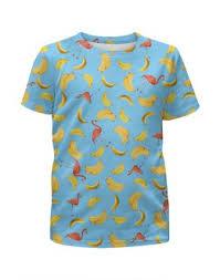 """Детские футболки c особенными принтами """"<b>бананы</b>"""" - купить в ..."""
