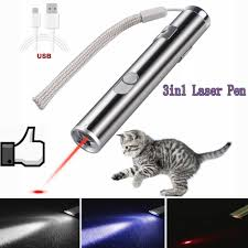 <b>3</b> In <b>1</b> Red Laser <b>Pen Multifunctional</b> Laser Pointer Mini Led ...