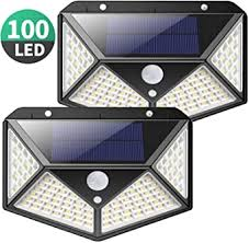 <b>Solar Lights</b> Outdoor, Kilponene Upgraded <b>100</b> LED Solar Motion ...