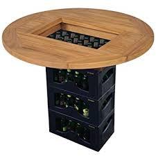 Tidyard <b>Beer Crate</b> Bar Table Outdoor Garden Furniture <b>Tabletop</b> ...
