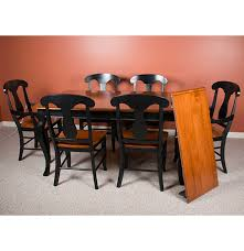 seven piece dining set: contemporary transitional style seven piece dining set