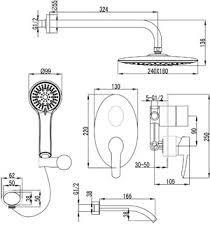 <b>душевая система</b> встраиваемая <b>Shift</b> LM4322C <b>Lemark</b>