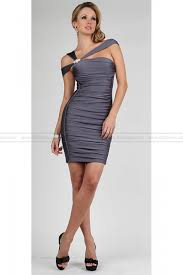 Fitted Bodice Dress Stunner Fashion Asym Fitted Bodice Mini Sexy Grey Short Naughty