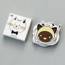 45 <b>Pcs</b>/<b>lot Cute Cat</b> Head Mini Paper Sticker Decoration DIY Diary ...