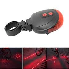 <b>Cycling Bike Bicycle</b> 5 LED Rear <b>Tail Light 3</b> Modes Safety Lamp ...