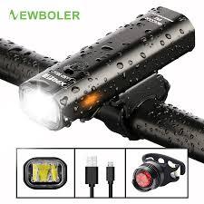 NEWBOLER 400LM <b>Bike Front Light</b> Set Anti glare USB ...