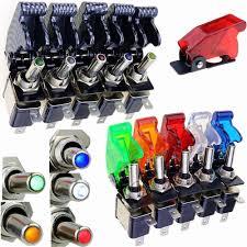 <b>1PCS</b> Auto Car Boat Truck Illuminated Led <b>Toggle Switch's Safety</b> ...