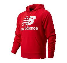 <b>Essentials</b> Stacked Logo Po <b>Hoodie</b> < Lifestyle   New Balance