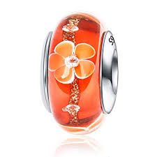 <b>JIAYIQI</b> Murano Glass Charm for Bracelets,<b>925 Sterling</b> Silver ...
