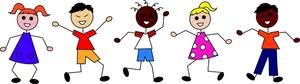 Image result for clip art kids stick figures