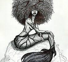 Black <b>Mermaid Wall</b> Art | Redbubble