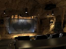 themed family rooms interior home theater: rockin around the theater themed home theaters  batman bat cave home theaterjpgrendhgtvcom