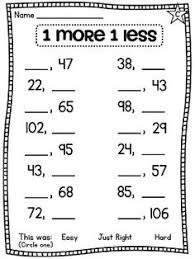 First grade math, Number lines and First grade on PinterestOne more one less differentiated worksheets!