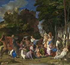 «<b>Пир богов</b>» картина - Джованни <b>Беллини</b> (закончена Тицианом)