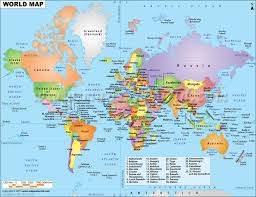countries world map
