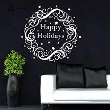 <b>YOYOYU Wall Decal</b> Christmas Wall Decoration Wreath Holiday Art ...