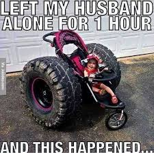 Left my husband alone for one hour - meme | Funny Dirty Adult ... via Relatably.com