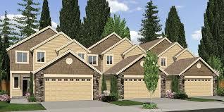 TriPlex House Plans  Multi Family Homes  Row House PlansT  Triplex plans  master on the main house plans  row home plans
