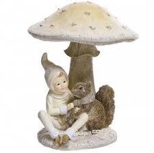 <b>Декоративная фигурка</b> Маленький эльф Олли и белочка под ...