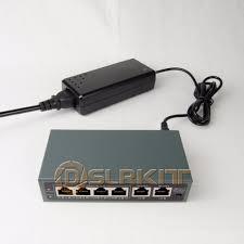 DSLRKIT 250 м 6 порты 4 PoE выключатель инъектор мощность ...