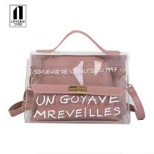 <b>Clear Transparent PVC Shoulder</b> Bags Women Candy Color ...