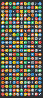 colorful flat icons set preview basic icons flat icons 1000