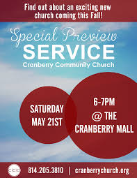 cranberry community church special preview service fishermen s large flyer