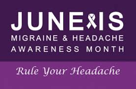 Image result for june is migraine awareness month