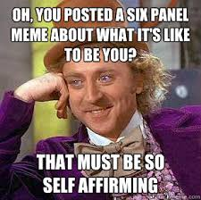 Oh, You Posted a Six Panel Meme About What it's like to be you ... via Relatably.com