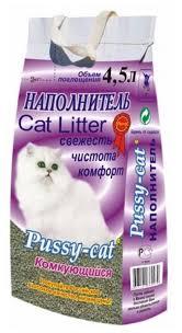 <b>Комкующийся</b> наполнитель <b>Pussy</b>-<b>Cat</b> 4.5 л — купить по выгодной ...