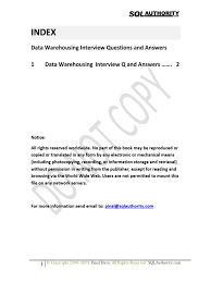 data warehousing interview questions answers docshare tips