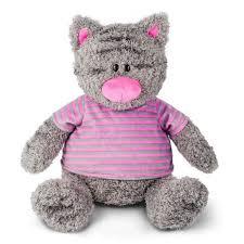 <b>Мягкая игрушка</b> Серый Кот в полосатой майке, 30 см. <b>Макси Тойз</b> ...
