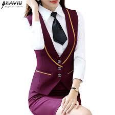 <b>Autumn new professional wear</b> female <b>fashion</b> vest elegant V neck ...