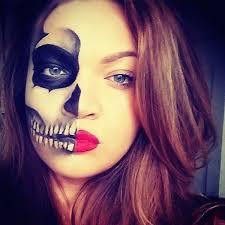 skeleton makeup tutorial easy half skull face