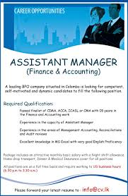 assistant manager finance accounting jobs vacancies in sri best job site in sri lanka cv lk