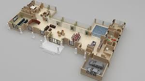 D Floor Plan Design  Interactive D Floor Plan   Yantram Studiofloor plan for d luxurious home
