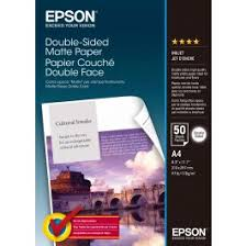 Genuine <b>Epson Double Sided Matte Paper</b> A4 Pack 50