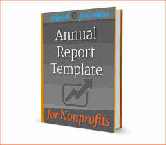 annual report template printable receipt nonprofit annual report template
