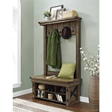 altra wildwood entryway hall tree with bench storage amazing entryway furniture hall tree image