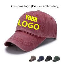 Only <b>1 Piece DIY</b> Custom Logo Print Washed Denim Made Cap ...