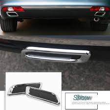 <b>2 Pcs</b> DIY Car Styling <b>ABS</b> chrome <b>rear</b> bumper decoration exhaust ...