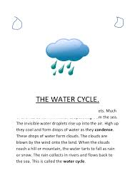 the water cycle notes the water cyclethe air contains a lot of invisible water droplets